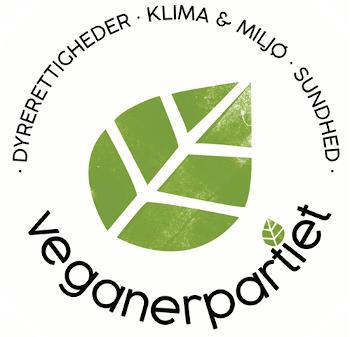 Veganerpartiets banner - dyrerettigheder - klima & miljø - sundhed