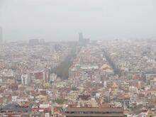 Barcelona set fra oven