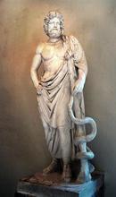Statue af Æskulap