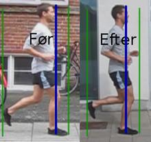 Før-efter billede efter løbeundervisning.